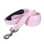 Southern Dawg Seersucker Pink Premium Dog Leash