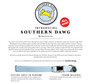 Southern Dawg Gingham Purple Premium Dog Collar