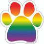 Rainbow Paw Magnet