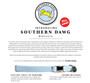 Southern Dawg Seersucker Blue with Skulls Premium Dog Collar