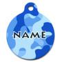 Camo Blue HD Pet ID Tag