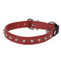 red Studded Leather Cat Collar