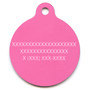 Pink Skulls HD Dog ID Tag