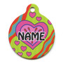 Crazy Hearts Hi-Def Dog ID Tag