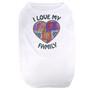 I Love My Family Hearts Pet T-Shirt