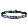 Personalized Patriotic Paws Dog Collar