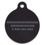 Bandana Black HD Dog ID Tag