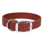 Simple Solids Leather Dog Collar