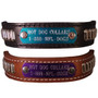Leather Bullet Dog Collar with Nameplate