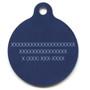 12th Dog Navy Blue HD Dog ID Tag