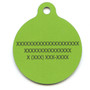 12th Dog GreenHD Dog ID Tag