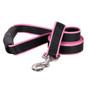 Sterling Stripes Black and Light Pink Dog Leash