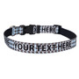 Personalized Blue and Brown Houndstooth Dog Collar