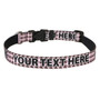Personalized Pink and Brown Houndstooth Dog Collar