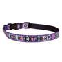 Personalized Purple Argyle Plaid Dog Collar