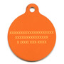 Fall Argyle Plaid HD Dog ID Tag