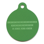 Lime Argyle Plaid HD Dog ID Tag