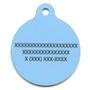Blue Pineapples HD Dog ID Tag