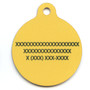Yellow Pineapples HD Dog ID Tag