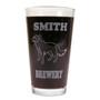 Personalized Pint Glass Beer Mug - Golden Retriever