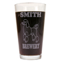 Personalized Pint Glass Beer Mug - Poodle