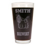Personalized Pint Glass Beer Mug - Shih Tzu (