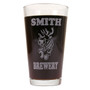 Personalized Pint Glass Beer Mug - Peace Doves