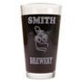 Personalized Pint Glass Beer Mug - Roses