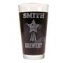 Personalized Pint Glass Beer Mug - Shooting Star