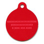 Peppermint Stick Chevron Stripes HD Dog ID Tag