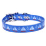 Sailboats And Anchors Elements Waterproof Dog Collar