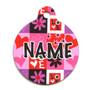 Valentines Blocks HD Pet ID Tag