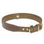 2-Row Crystal Color Leather Dog Collar