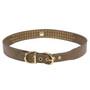 3-Row Crystal Color Leather Dog Collar