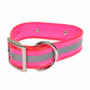 Reflective Waterproof Dog Collar with Nameplate for Big Dogs