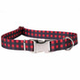 Buffalo Plaid Red Premium Metal Buckle Dog Collar