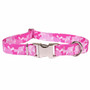 Camo Pink Premium Metal Buckle Dog Collar
