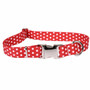 Polka Dot New Red Premium Metal Buckle Dog Collar