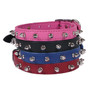 Hot Dog Spiked Leather Dog Collar