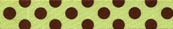Polka Dot Green and Brown