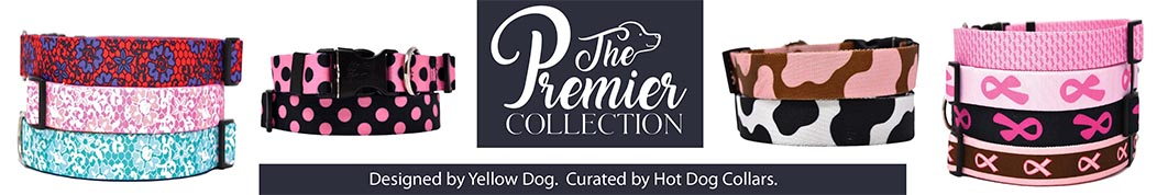 Shop The Premier Collection. Designed by Yellow Dog, curated by Hot Dog Collars.