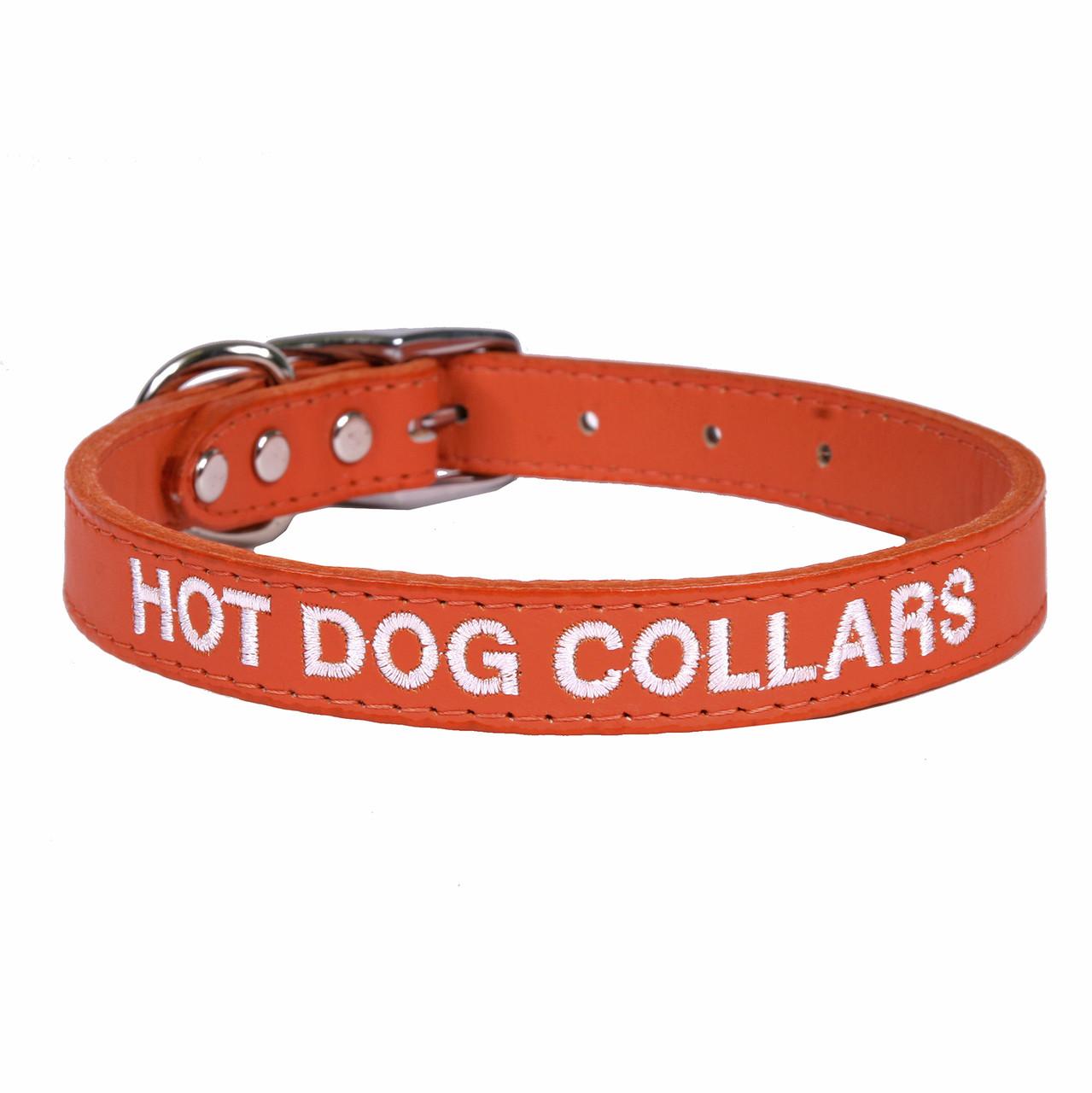 Designer Dog Collar Personalized Leather Dog Collar Luxury Dog Collar Personalized Leather Dog Collar Personalized in Horween Leathers