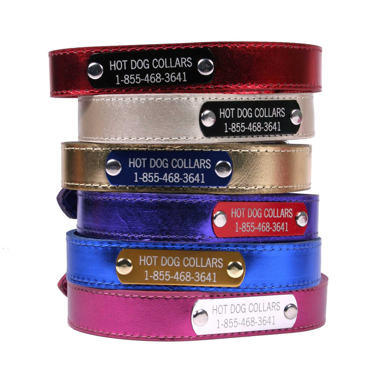 Leather Dog Collar Custom Dog Collar Personalized Leather Pet ID tag Dog Collars Name plate Engraved ID For Boy and Girl Dogs