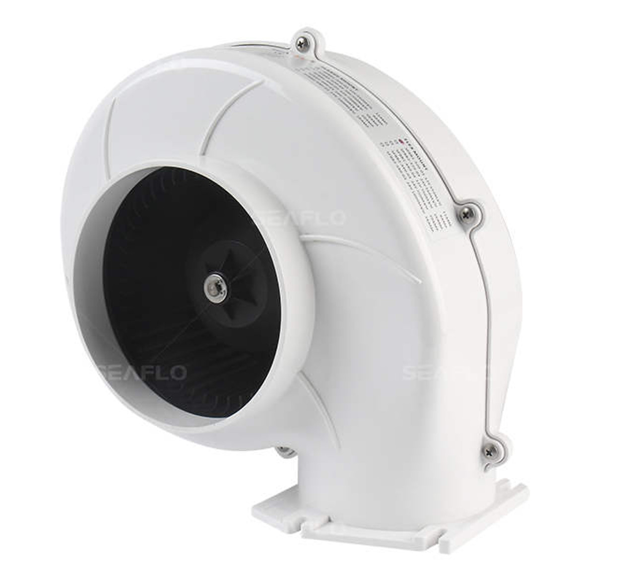 "NEW Marine Boat Bilge Air Blower Fan 3/"" Hose Flex Flange Mount Ventilation"