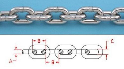 1//4 ISO G43 High Test Marine Anchor Chain 144 /µm Micron Thick Hot Dipped Galvanized NACM