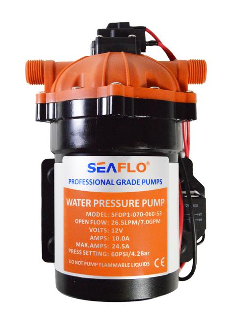 SEAFLO Diaphragm Pump 7 0 GPM / 60 PSI /12V