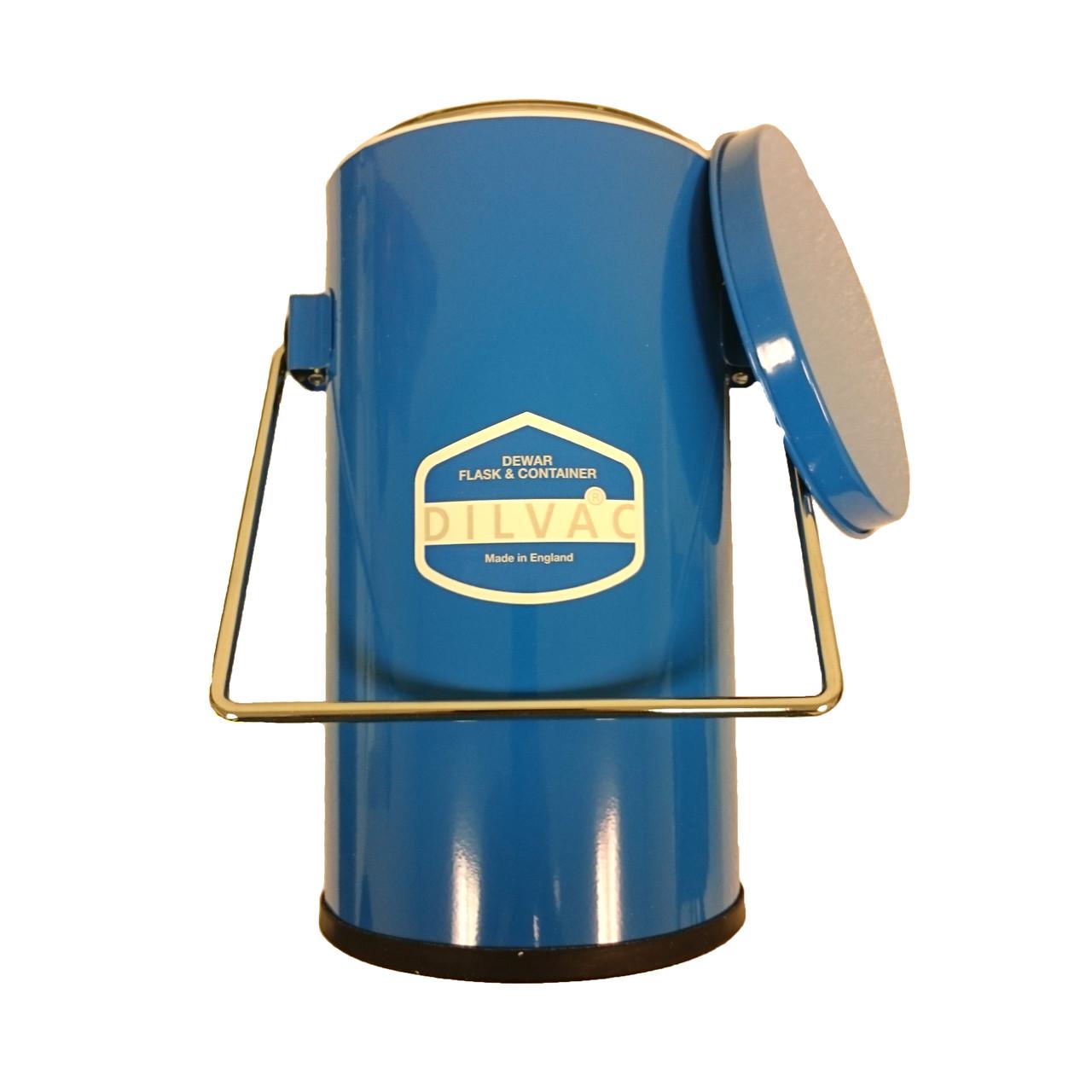 Blue Enameled Cased Dewar Flask: 4.5L