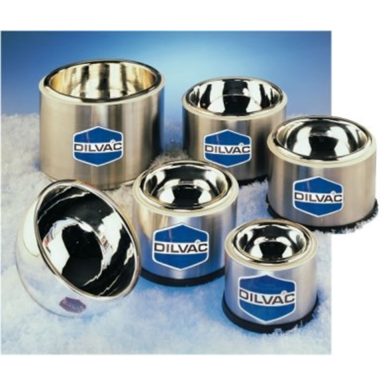 Scilogex WideTop-Shallow Stainless Steel Cased Dewar Flask - 0.57L