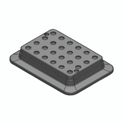 Block, used for 0.5mL tubes, 24 holes