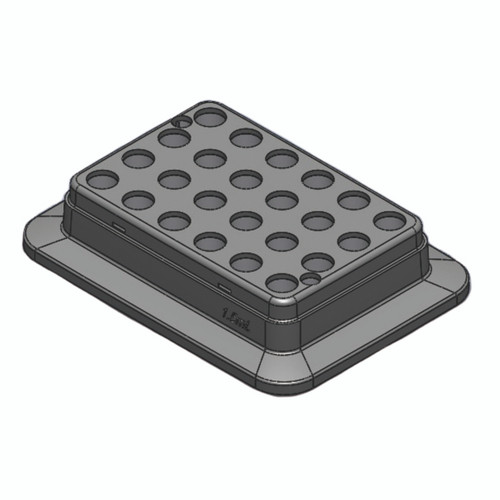 Block, used for 1.5mL tubes, 24 holes